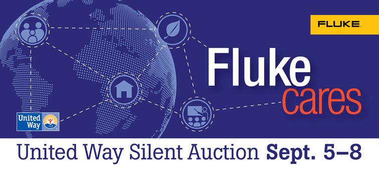 Fluke Cares Silent Auction Banner