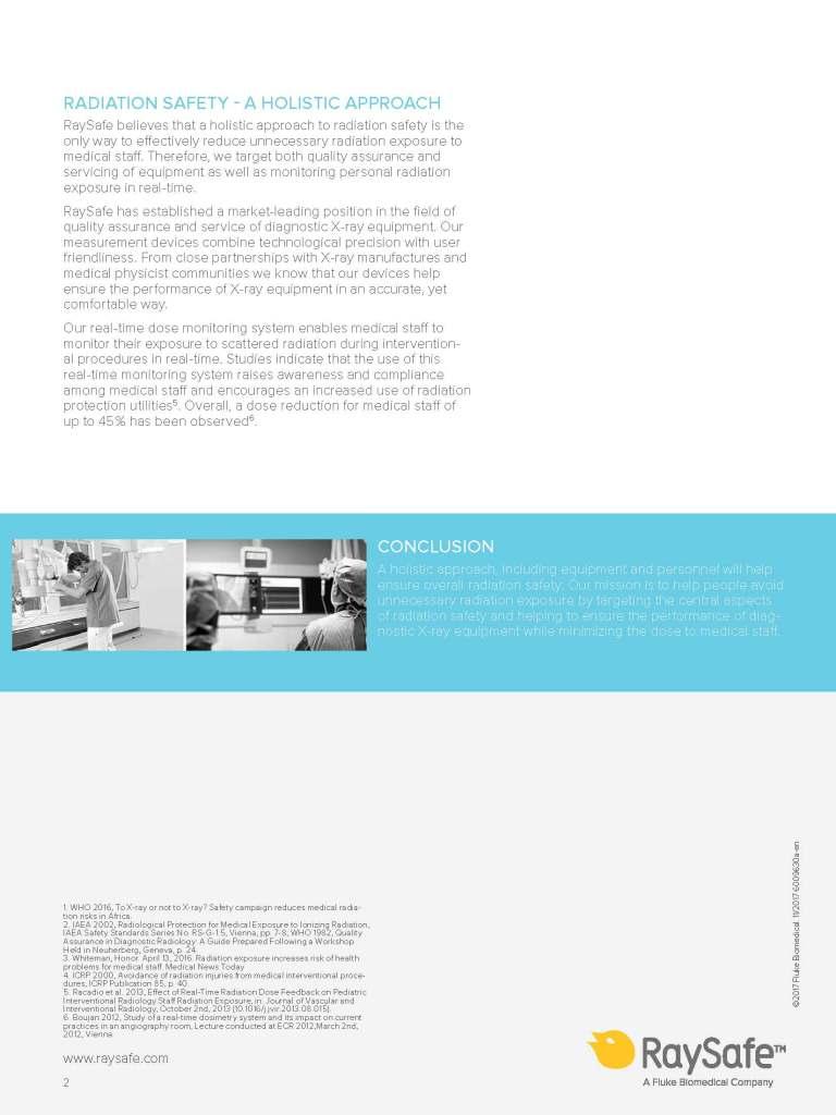 RaySafe Radiation Safety Flyer