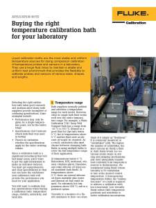 FCAL Buying the Right Temperature Calibration Bath for Your Laboratory, Application Note