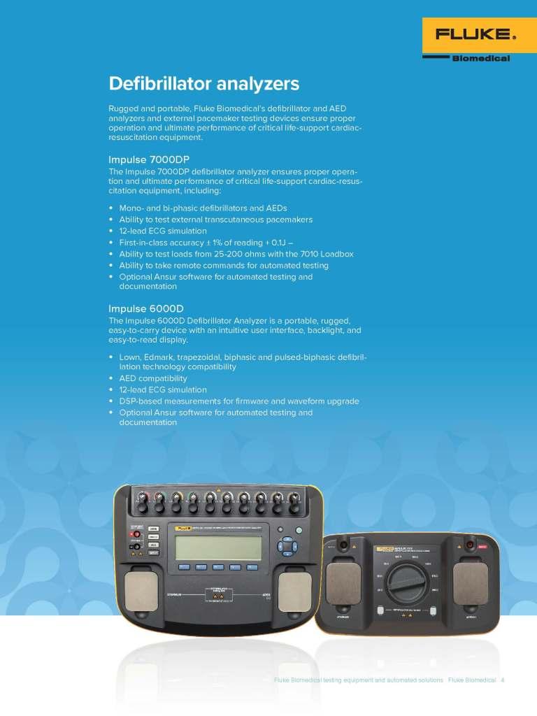 Fluke Biomedical Automated Solutions Brochure