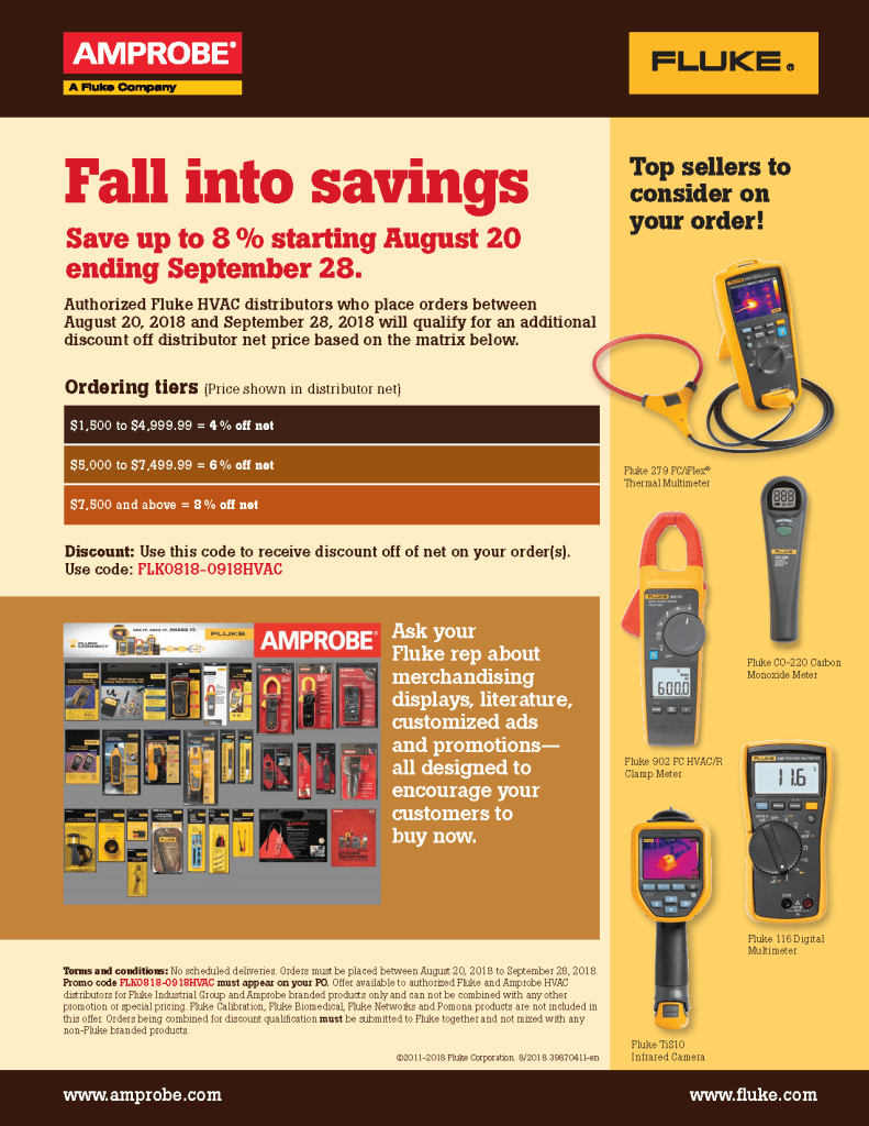 Fall HVAC Stocking Promo Flyer
