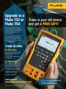 Fluke 753/754 Trade In Promo, Flyer