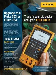 Fluke 753/754 Trade In Promo, Flyer