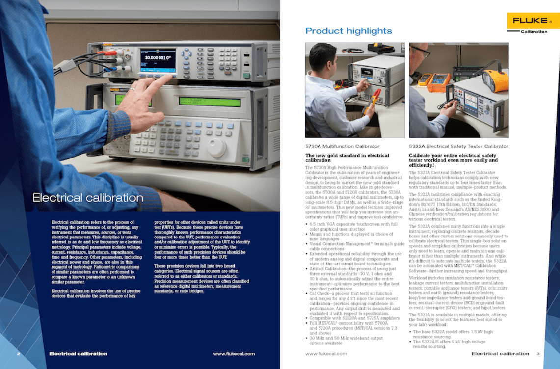 Fluke Calibration Products and Services Catalog