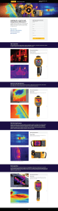 Thermography Application Web Page, Desktop