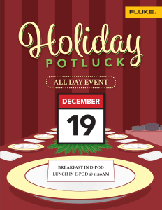 2018 Holiday Potluck Flyer