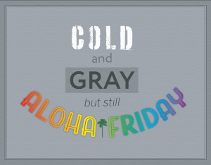 Gray Aloha Friday