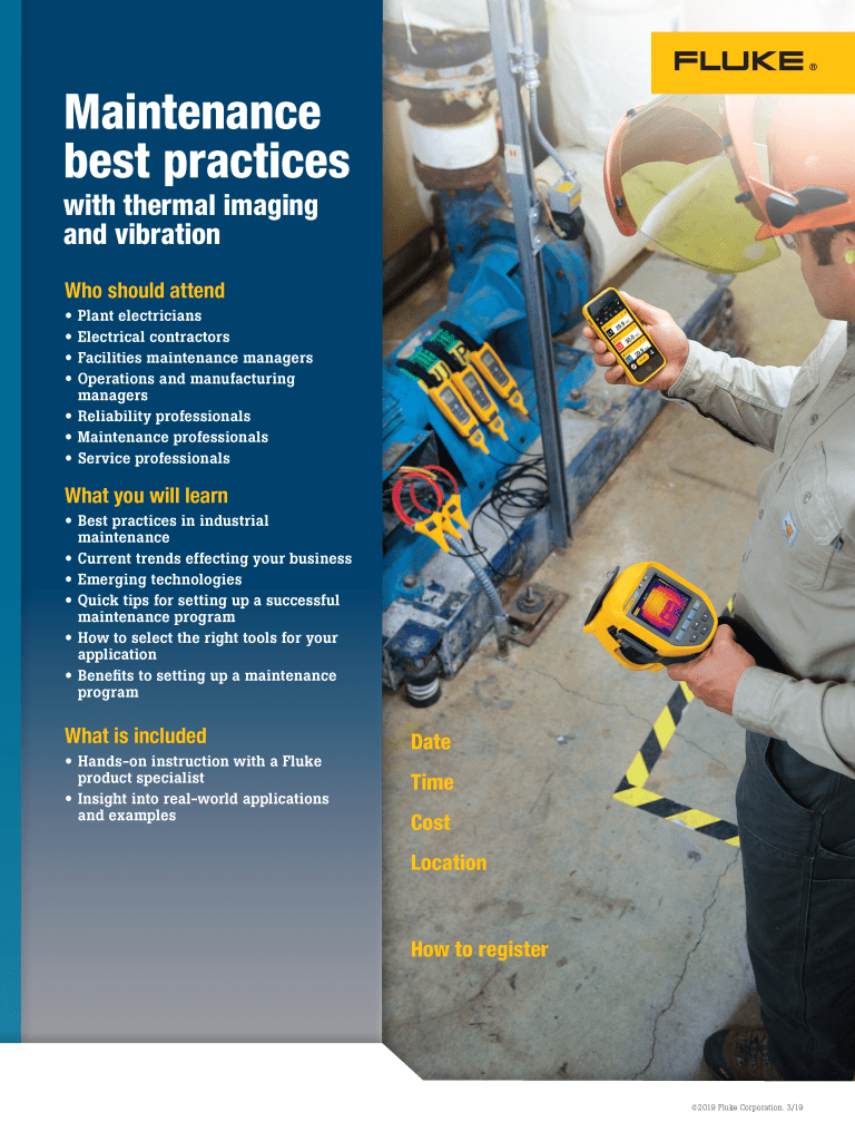 Maintenance Best Practices Seminar Flyer Editable Template