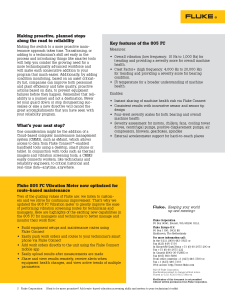 805FC Route Based Maintenance Application Note