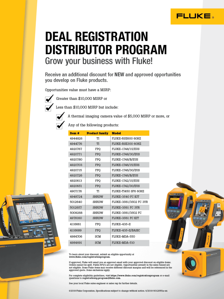 Deal Registration Program, Flyer