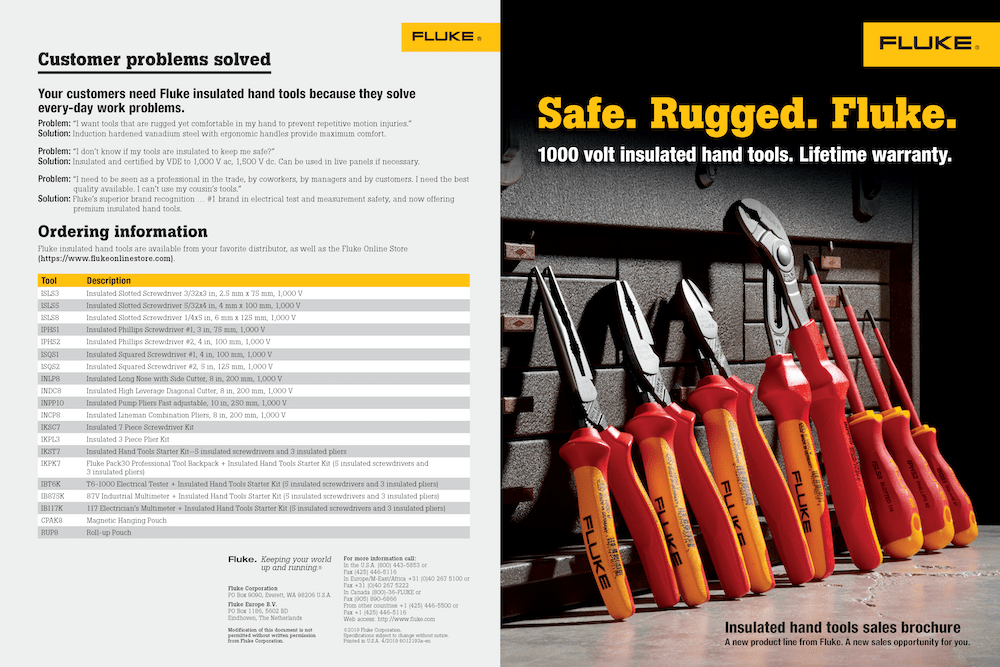 Insulated Hand Tool Sales Brochure