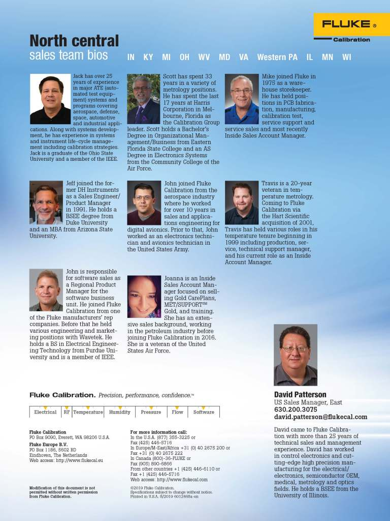 FCAL North Central Sales Team Flyer