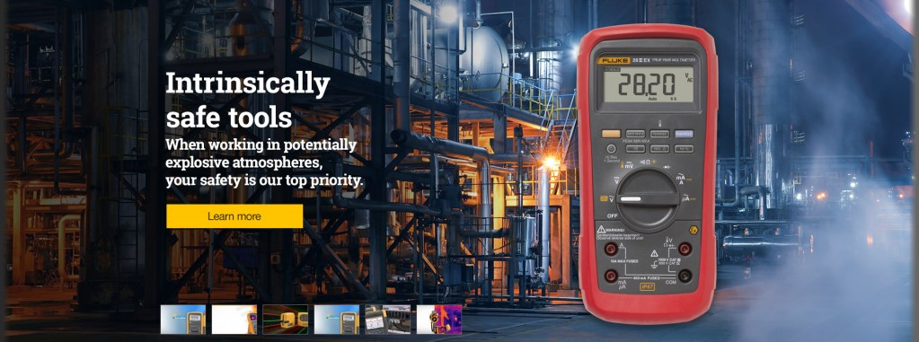 Fluke Intrinsically Safe Tools Web Banners