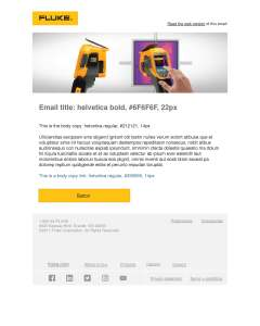 Fluke Ti300+ Email Header