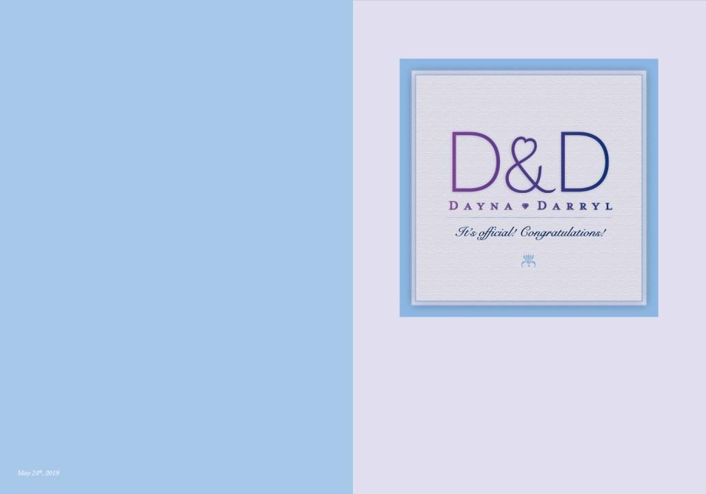 D&D Wedding Card