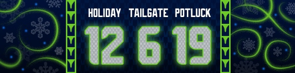 Seahawks Holiday Tailgate Potluck Email Header