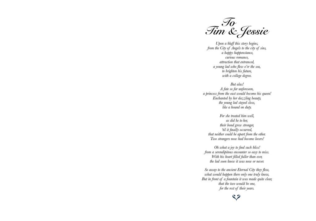 J&T Wedding Card