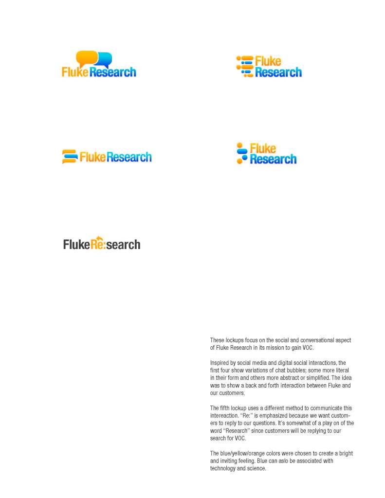 Fluke Research Logo Concepts