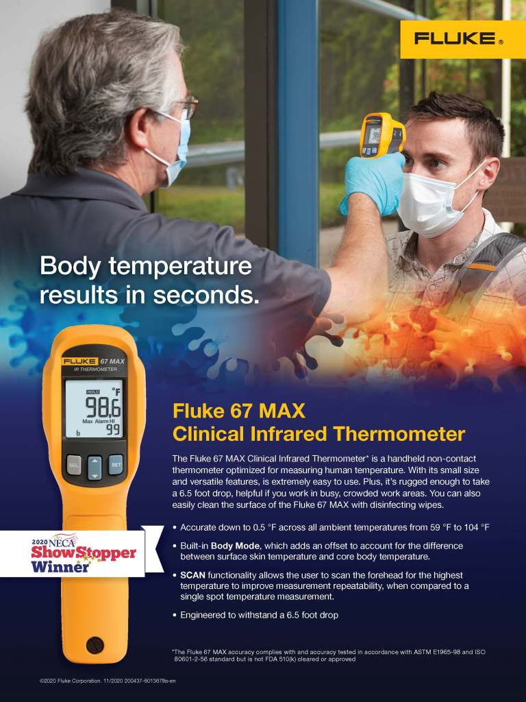 Fluke 67 MAX Clinical Infrared Thermometer Campaign, NECA Flyer