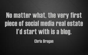 chris brogan start with a blog