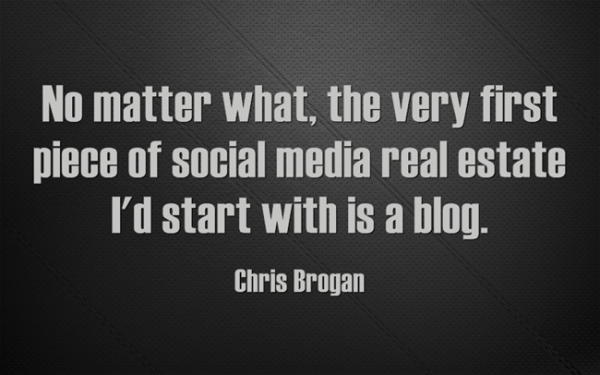 chris brogan start with a blog