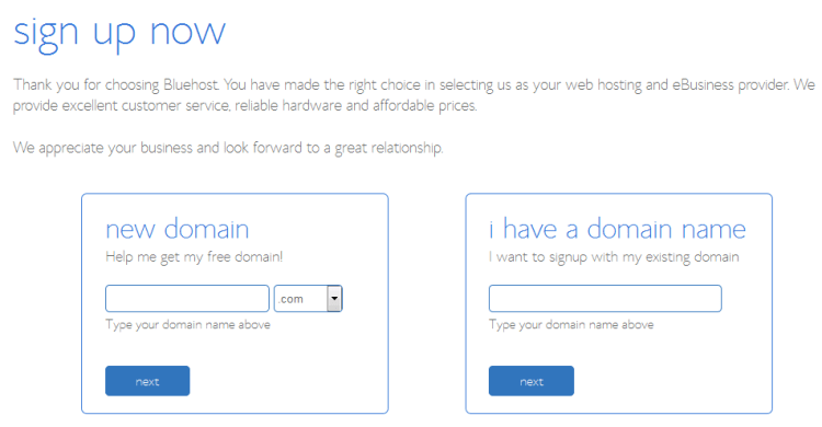 enter your desired domain name