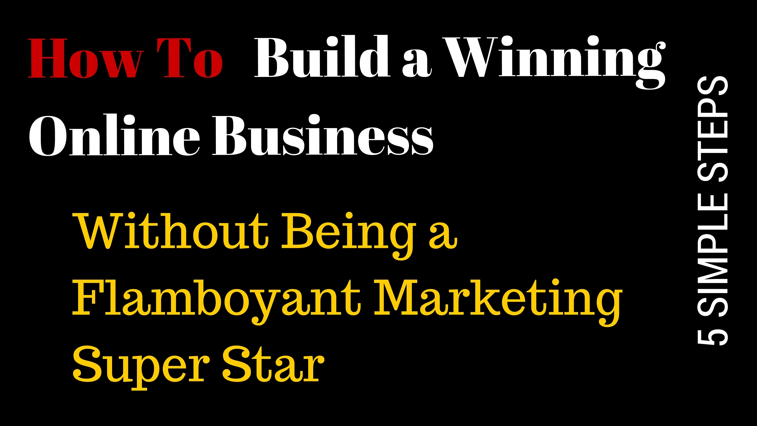 Build Winning Online Business