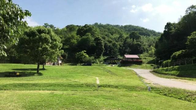 真備美しい森キャンプ場の風景