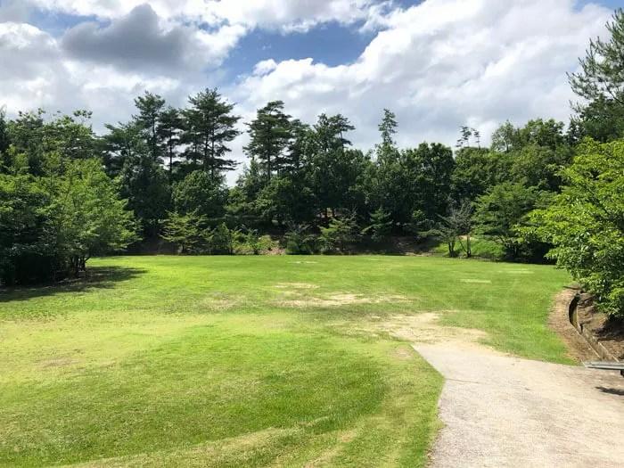 亀島キャンプ場の林間広場サイト1