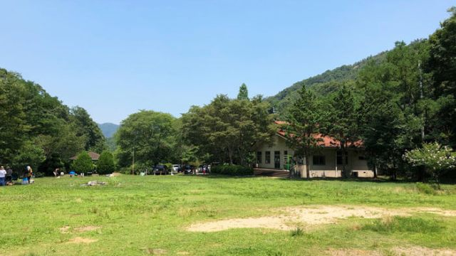 古法華自然公園キャンプ場の風景