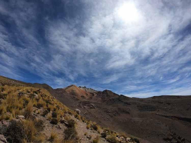 Tunupa山頂付近