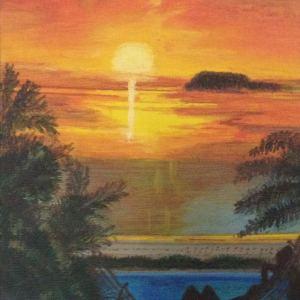 """"""" Femme nue sur un hamac au coucher du soleil """" Disponible"""