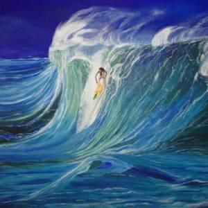 """"""" Grosses vagues avec surf """" Disponible"""