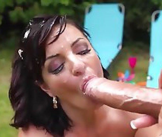British Milf Amanda X Sucks Monster Cock Gets Facial
