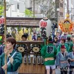 神田祭見学-2 東神田三丁目出発から連合集結まで