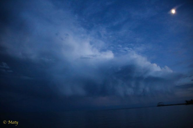 Storm is moving in at Lake Issyk Kul, Kyrgyz Republic