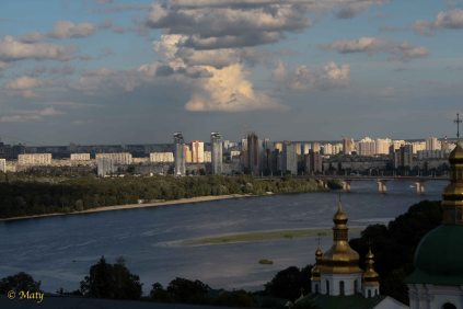 View on Kiev from Pecherska Lavra Monastery