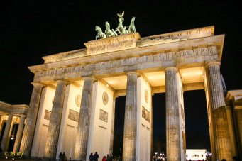 Brandenburg Gate at close
