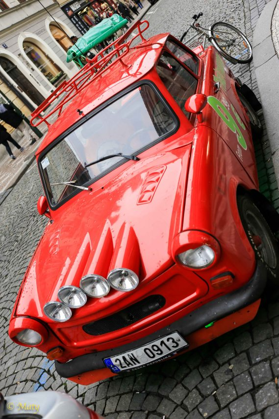 Upgraded Trabant in Prague, Czech Republic