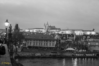 Hradczan Castle in the background - photo taken from Charles Bridge