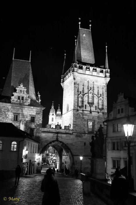 Another photo of Charles Bridge at night - Prague, Czech Republic