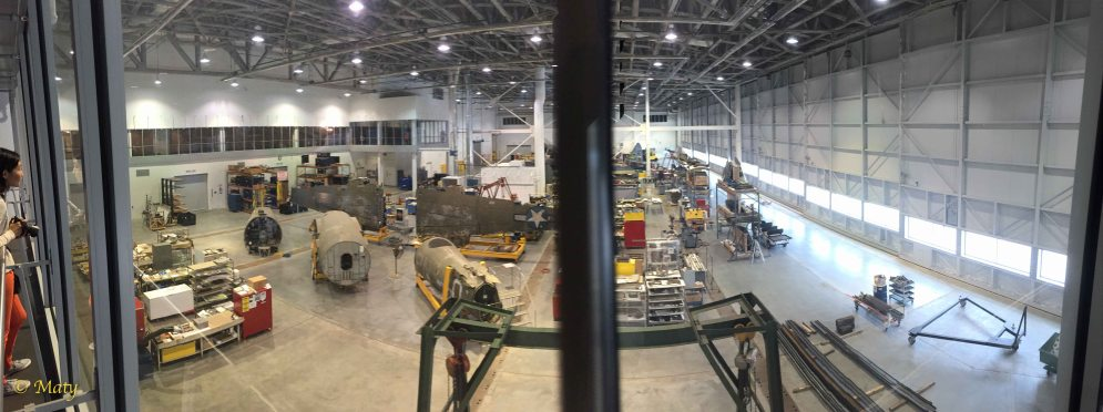 Panorama of the Mary Baker Engen Restoration Hangar