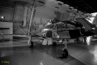 Lockheed T-33A Shooting Star in black and white