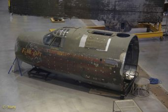 "Restoring of front section of the Martin B-26B-25-MA Marauder ""Flak-Bait"" at the Mary Baker Engen Restoration Hangar"