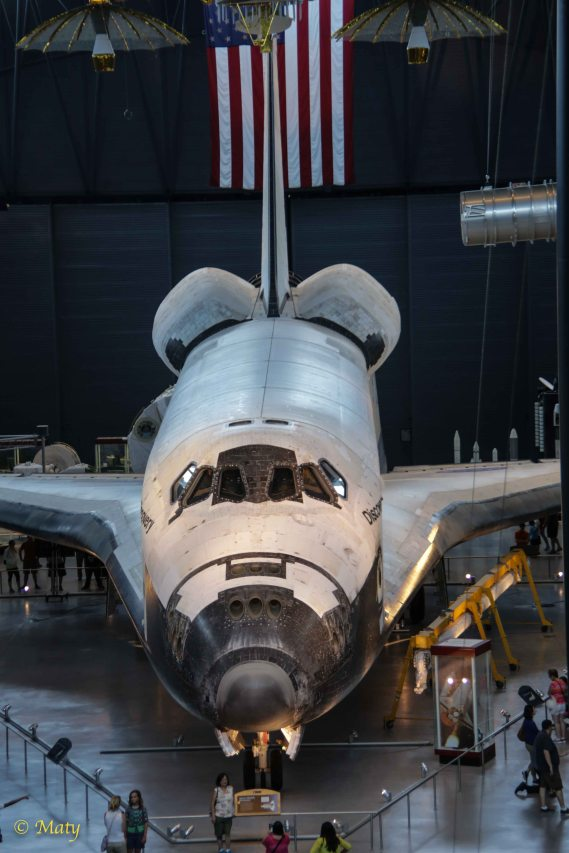 Space Shuttle Discovery from the nose