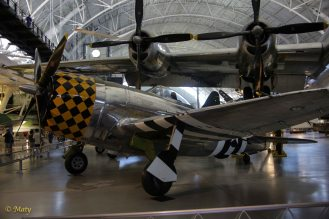 Republic P-47 D Thunderbolt and Boeing B-29 Superfortress