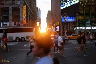 Sunset at Times Square...
