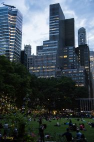 Evening at Bryant Park