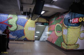 The idea of Subway station art in NYC - it is freedom