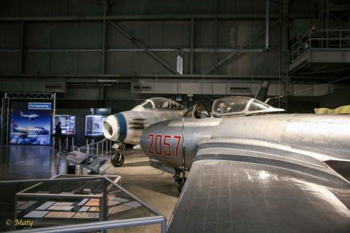Mikoyan-Gurevich MiG-15 and North American F-86A Sabre